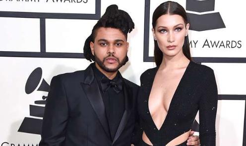 The Weeknd y Bella Hadid besándose en Coachella
