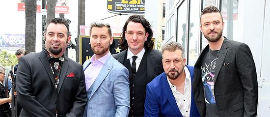 NSync se reúne para recibir estrella en el Paseo de La Fama de Hollywood