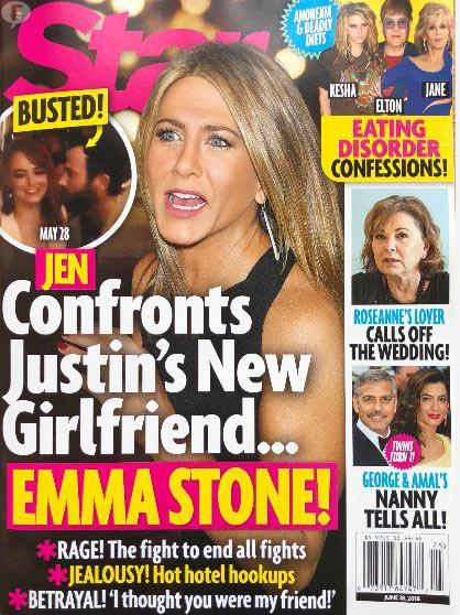 Jennifer Aniston enfrenta a Emma Stone por Justin Theroux (Star)