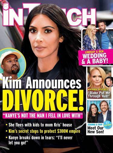 Kim anuncia divorcio! LOL! (InTouch)