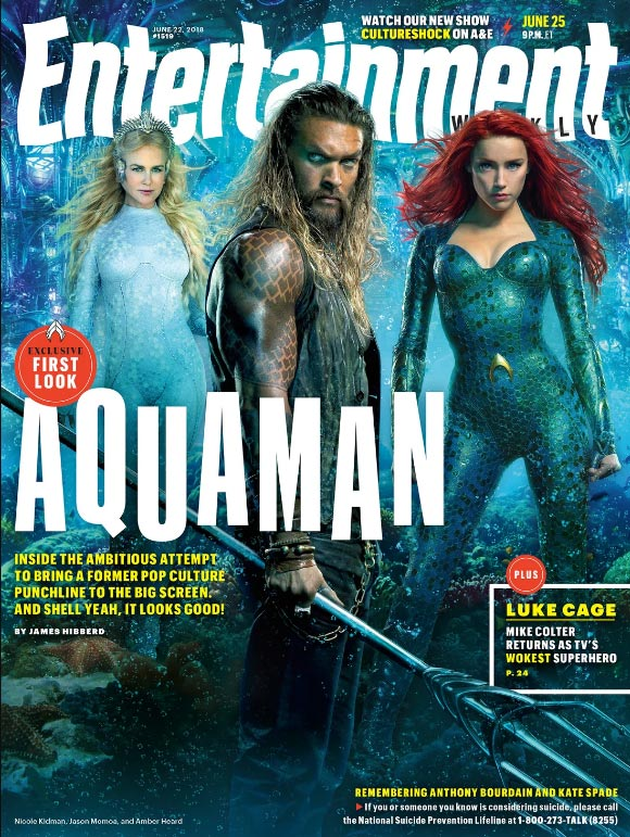 Jason Momoa como Aquaman - Entertaiment Weekly