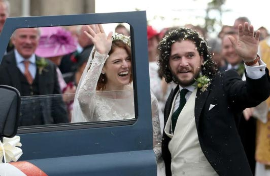 Game of Thrones, Kit Harington Rose Leslie casados! - Chismes enlatados!