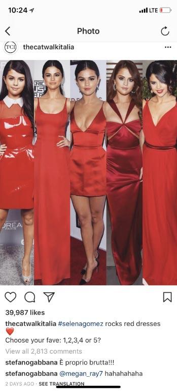 Stefano Gabbana llama fea a Selena Gomez! WTF? LOL!