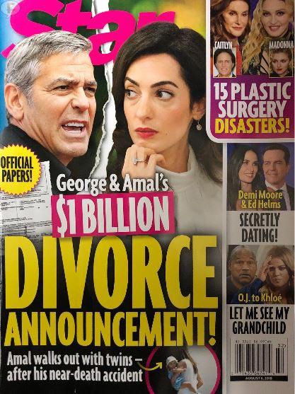 George y Amal Clooney ANUNCIO DE DIVORCIO (Star)