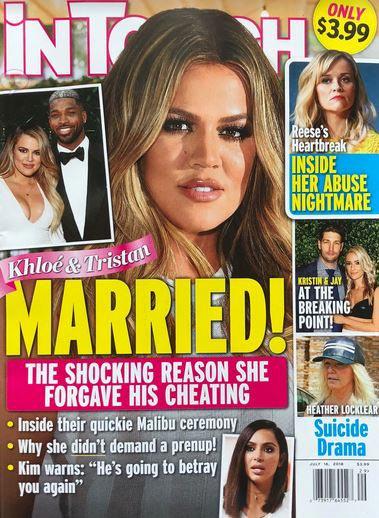 Khloe Kardashian y Tristan Thompson casados! (InTouch)