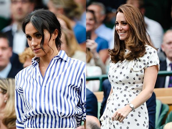Kate Middleton y Meghan Markle juntas en Wimbledon
