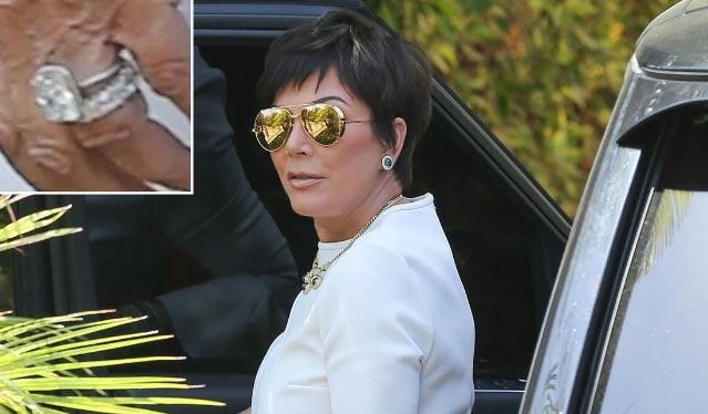 Kris Jenner con un anillo de compromiso? Con Corey Gamble?