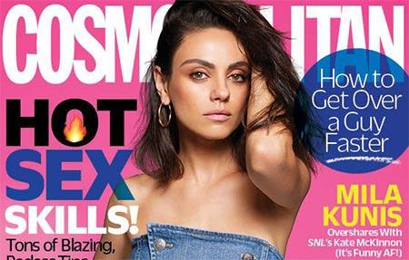 Mila Kunis: las redes sociales y los chismes de tabloides (Cosmopolitan)