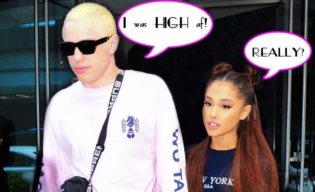 Pete Davidson HIGH cuando propuso matrimonio a Ariana Grande!