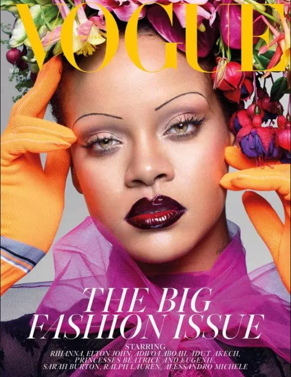 Rihanna en Vogue UK - The Big Fashion Issue (Sept 2018)