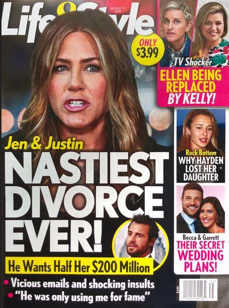 Jennifer Aniston y Justin Theroux: el divorcio más sucio de todos (L&S)