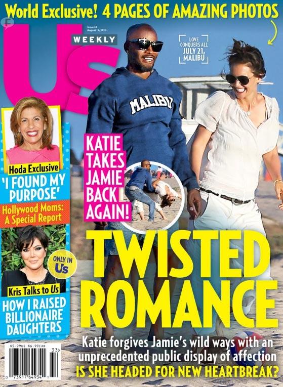 Katie Holmes y Jamie Foxx presumen su romance (Us)