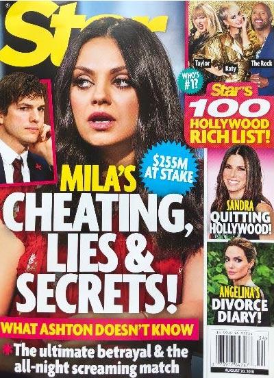 Las infidelidades, mentiras y secretos de Mila Kunis! (Star)