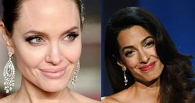 Angelina Jolie celosa de Amal Clooney