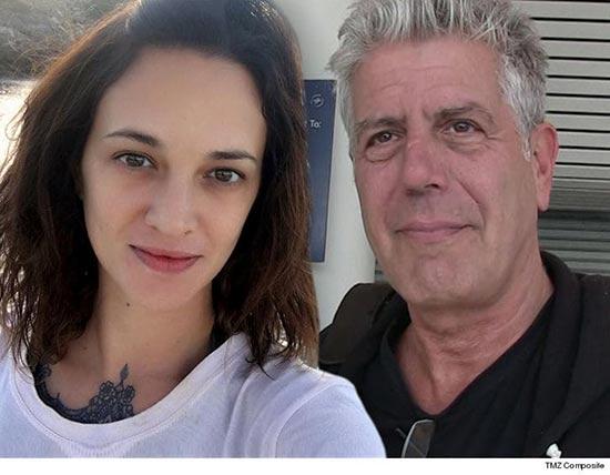 Asia Argento niega violación a Jimmy Bennett, Anthony Bourdain pagó