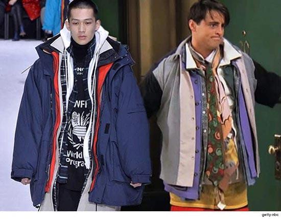 Balenciaga recreó el look de Joey con toda la ropa de Chandler en Friends