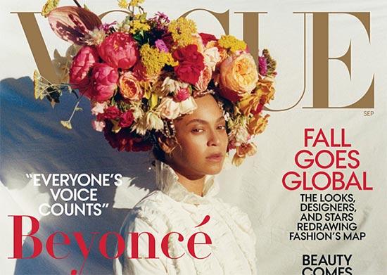 Beyonce cree que tiene barriguita (Vogue)