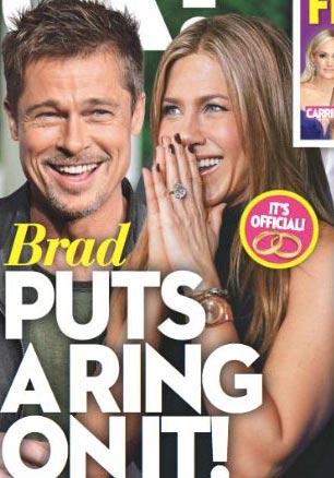 What? Esto es ridículo! Brad Pitt y Jen Aniston comprometidos! (OK!)