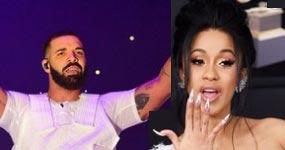 Drake y Cardi B los más escuchados en Spotify