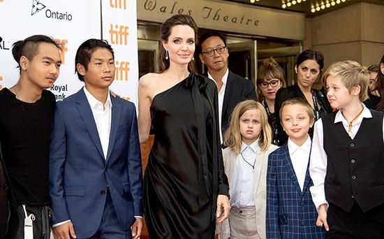 Brad Pitt pasando tiempo de calidad con sus hijos