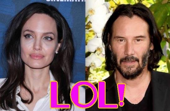 Angelina Jolie y Keanu Reeves saliendo? What? Bahahahahaha…