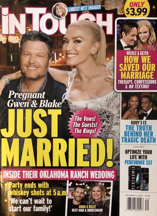 Gwen Embarazada y Blake: Recién Casados!! (InTouch)