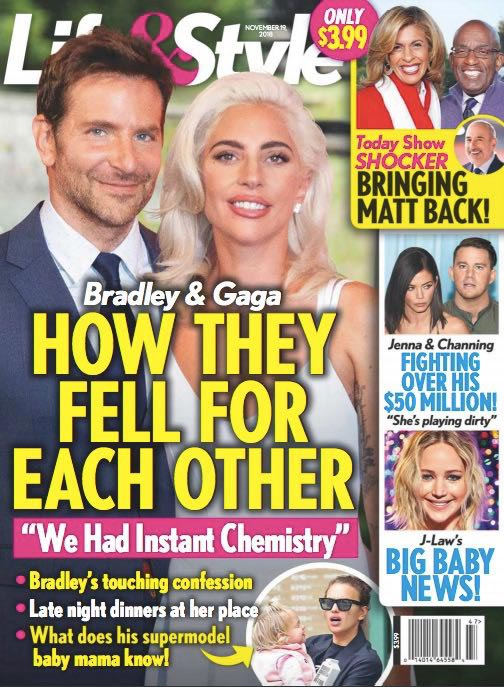 Bradley Cooper y Lady Gaga enamorados! (Life&Style)