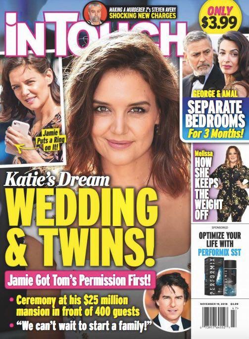 Katie Holmes y Jamie Foxx: Boda y Gemelos! (InTouch)