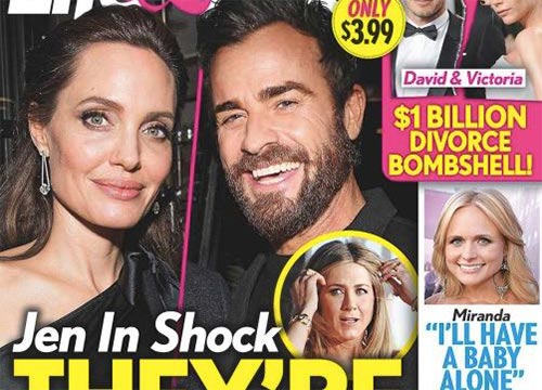 Angelina Jolie y Justin Theroux saliendo! (L&S)
