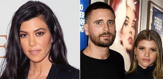 Kourtney Kardashian en tensa cena con Scott Disick y Sofia Richie