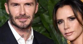 Victoria y David Beckham en los British Fashion Awards