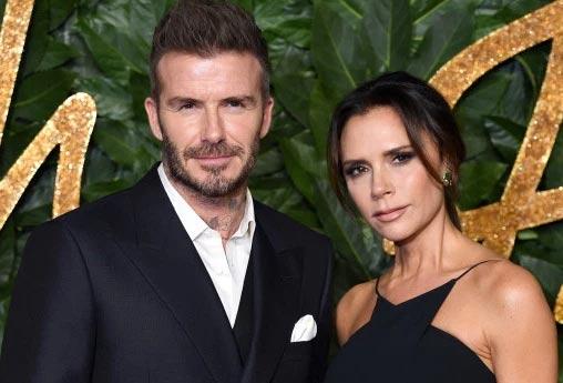 Victoria y David Beckham en los British Fashion Awards