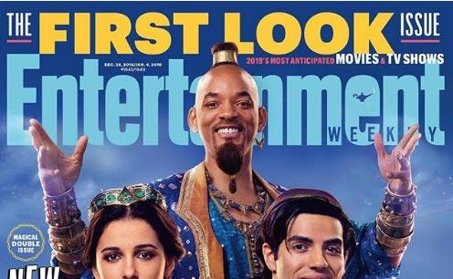 Vean a Will Smith como el genio de Aladdin (y al resto del elenco)