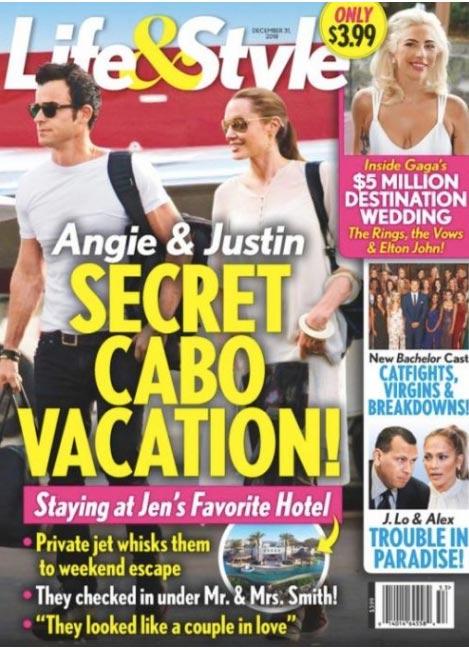 Angelina y Justin Theroux: vacaciones secretas en Cabo (L&S)