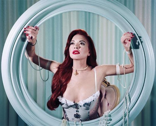 Lindsay Lohan como las princesas Disney - Paper magazine