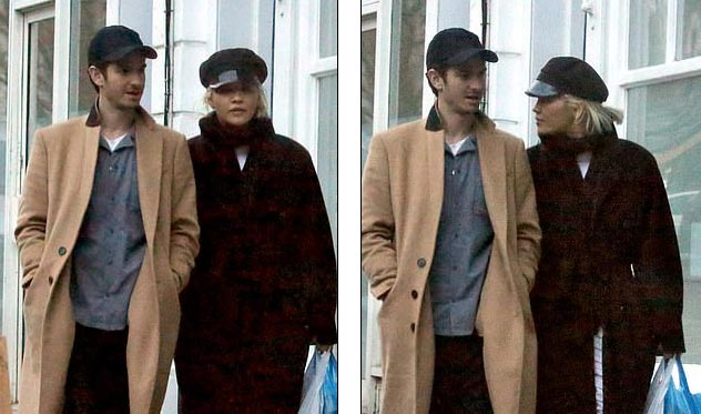 Andrew Garfield y Rita Ora juntos en Londres