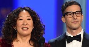 Sandra Oh y Andy Samberg anfitriones Golden Globes 2019 – Nominados