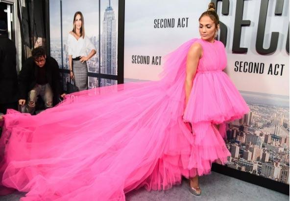 Jennifer Lopez en la premier de Second Act