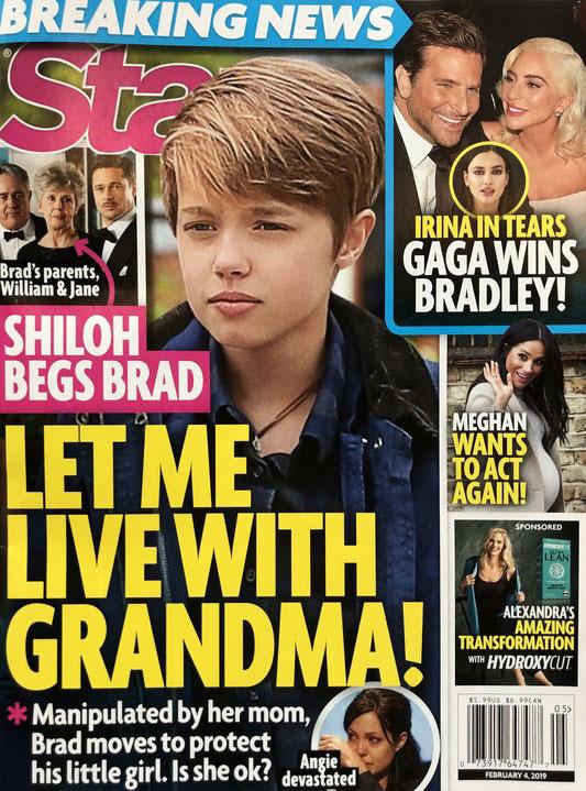 Hija de Brad y Angie, Shiloh quiere vivir con su abuela (Star)