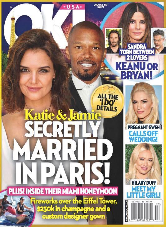 Katie Holmes y Jamie Foxx: Casados en secreto en París (OK!)