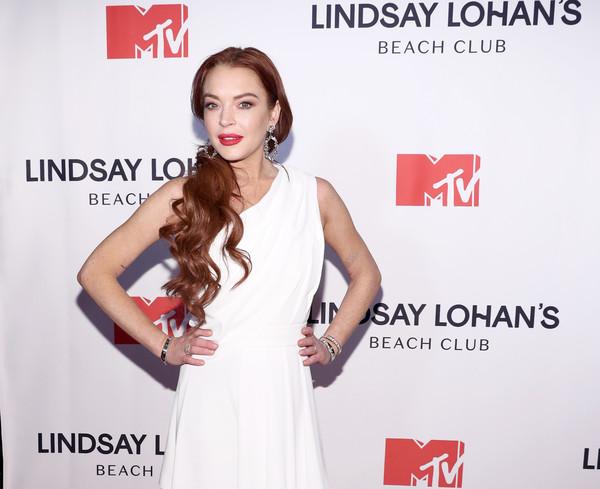 Lindsay Lohan en la premier de su reality show