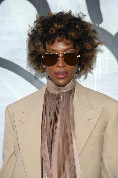 Naomi Campbell Louis Vuitton Front Row Paris