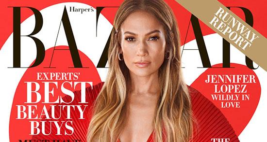 Jennifer Lopez enamoradísima en Harper's Bazaar