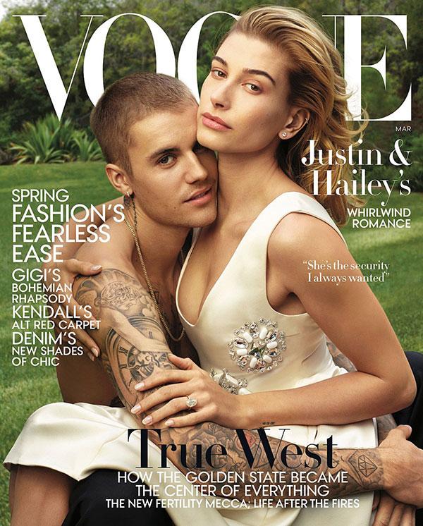 Justin Bieber y Hailey: célibes hasta el matrimonio (Vogue)