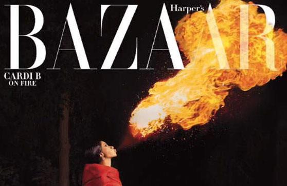 Cardi B habla de la fama y la depresión post parto (Harper's Bazaar)