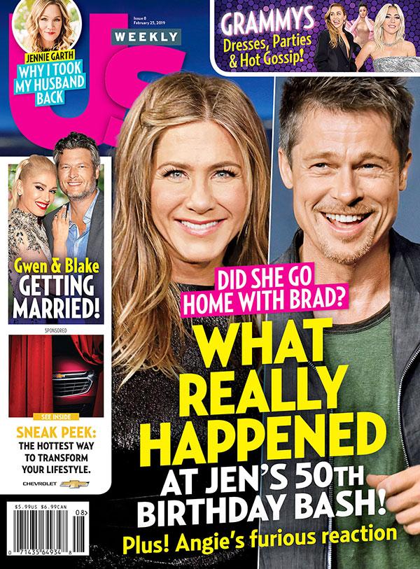 Jen & Brad: Qué pasó en el Bday? Jen se fue a casa con Brad? (Us)