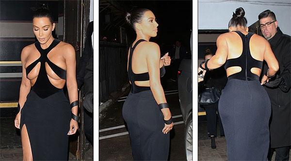 Kim Kardashian con el vestido más atrevido hasta ahora?