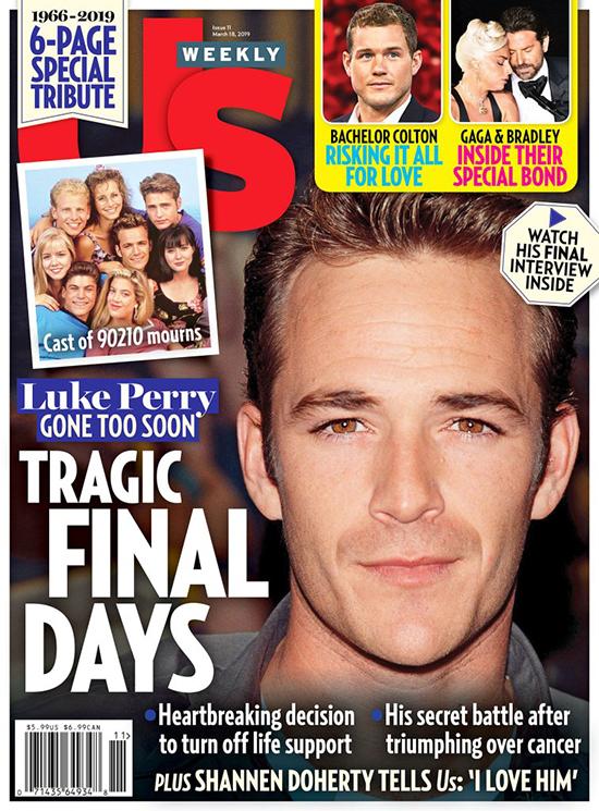 Luke Perry fue desconectado por su familia (Us Weekly)