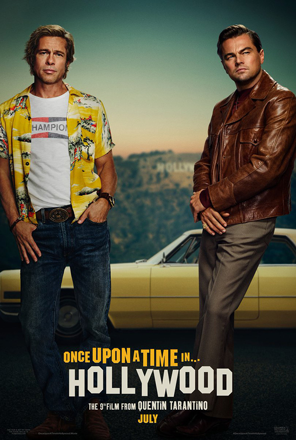 Poster Oficial de Once Upon A Time con Brad Pitt y Leo DiCaprio