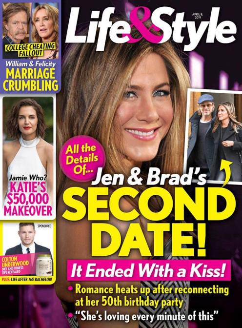 Jennifer Aniston y Brad Pitt segunda cita termina con beso!
